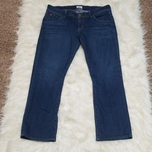 Sz 32 Jeans Hudson Beth Baby BootCut Crop Stretch